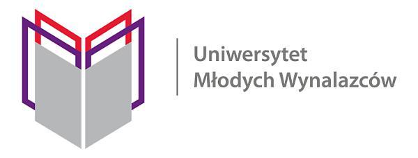 Logo programu Uniwersytet Młodych Wynalazców