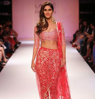Vani Kapoor in lovely orange Choli Ghaghra On Ramp Lakme Fashion Week 2014 Picture Gallery