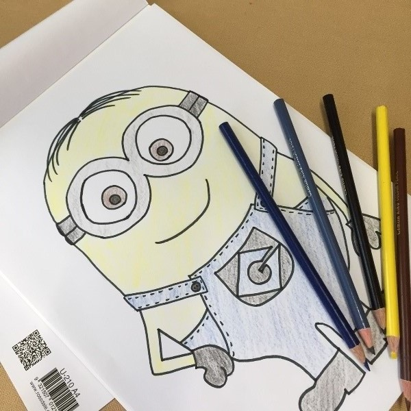 how to draw purple minions step by step