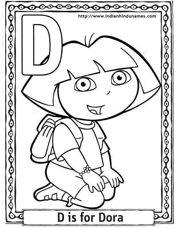 Cartoons Coloring Pages Dora The Explorer Coloring Pages