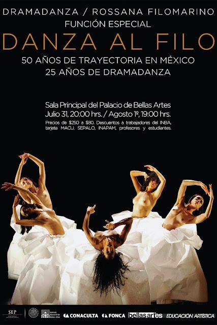 """Rossana Filomarino celebra 50 años de carrera con """"Danza al Filo"""" en el Palacio de Bellas Artes"""