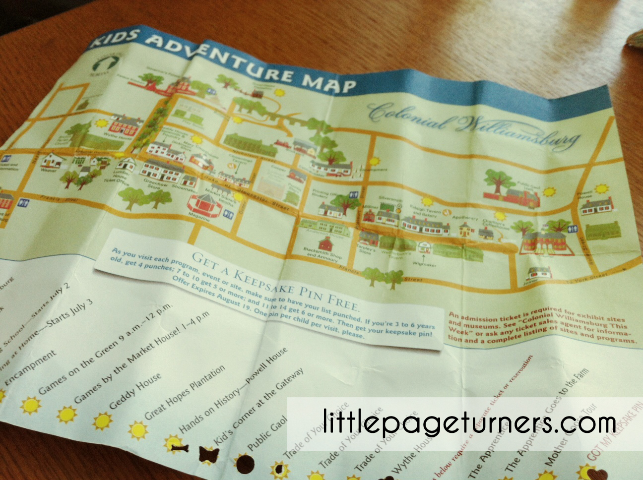 Little Page Turners Colonial Williamsburg With Kids - Colonial williamsburg map