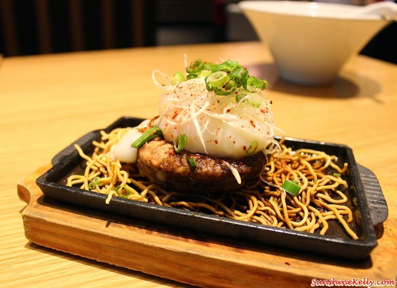 IPPUDO Spicy Black, Kakuni Special Ramen, smoked salmon salad, Chashu Tsukune Teppan,  Shiromaru Kakuni