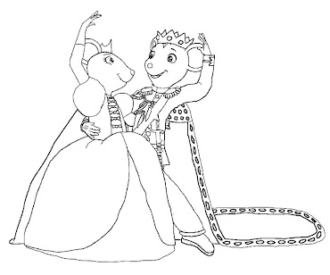 #10 Angelina Ballerina Coloring Page