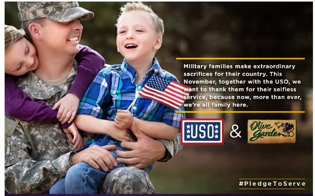 Veterans day deals 2013 free meal at olive garden discounts all month long spend less shop for Does olive garden give military discount