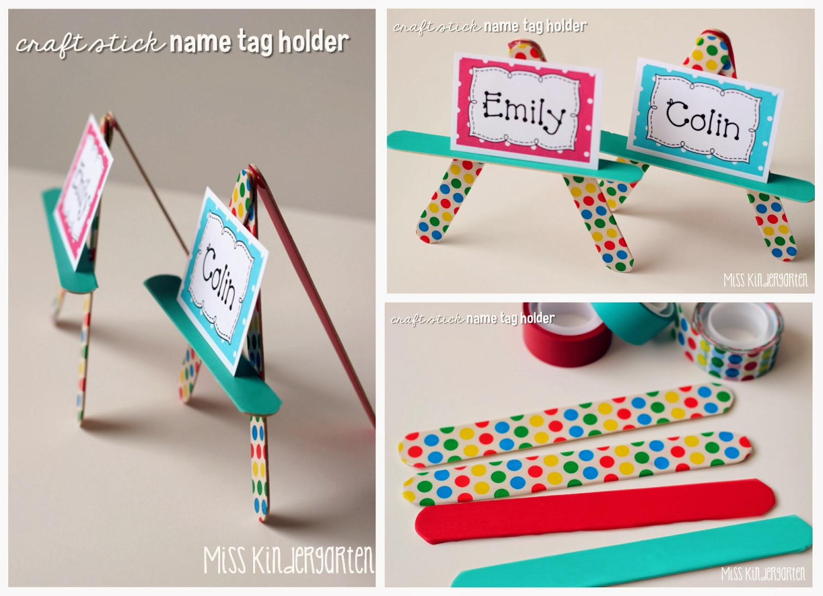 scotchexp craft stick name tag holders miss kindergarten