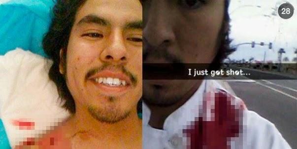 Heboh Foto Selfie Seorang Pemuda Saat Terkena Tembakan