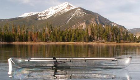 kanu kayak transparent lutsinar