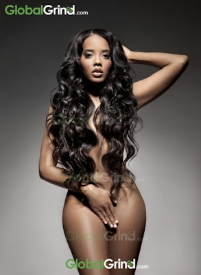 Angela Simmons poses nude for Peta.
