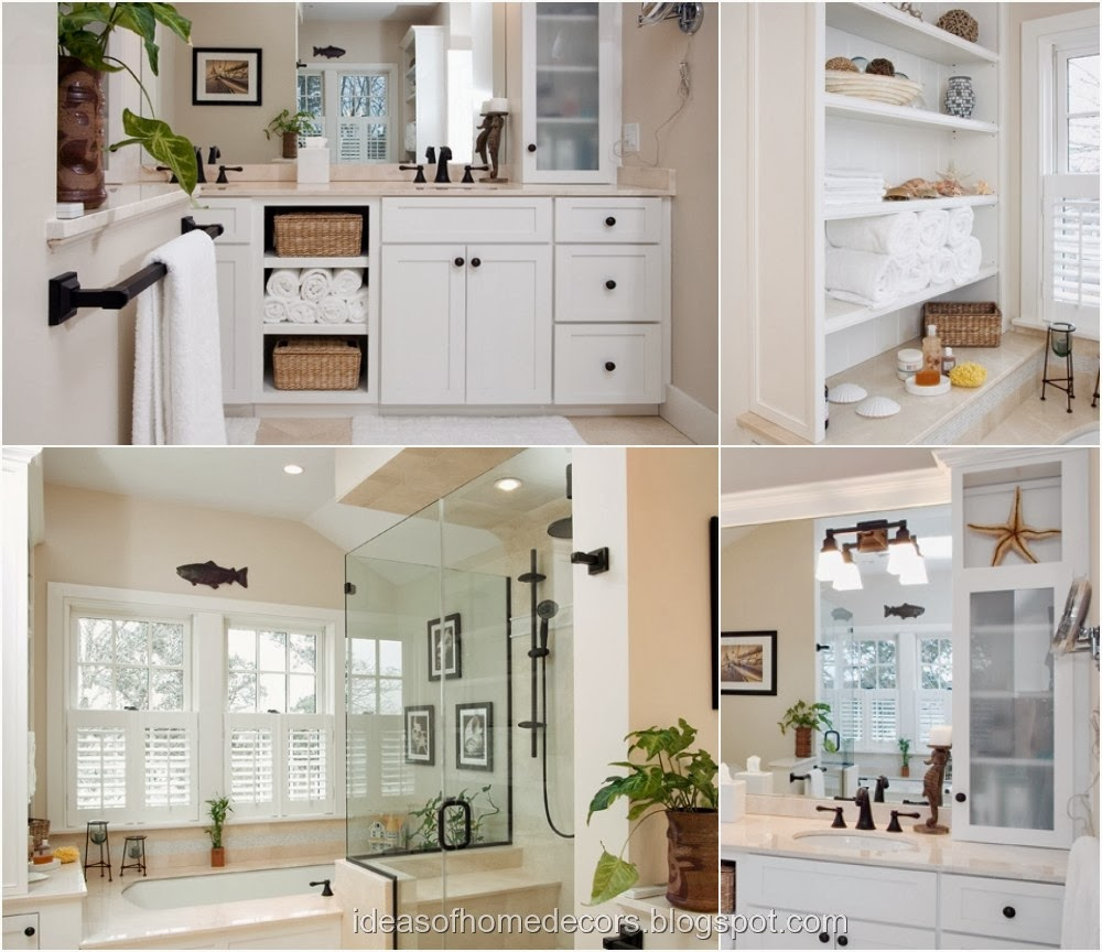 Country style bathroom decor ideas with vanities and for Cape cod bathroom design