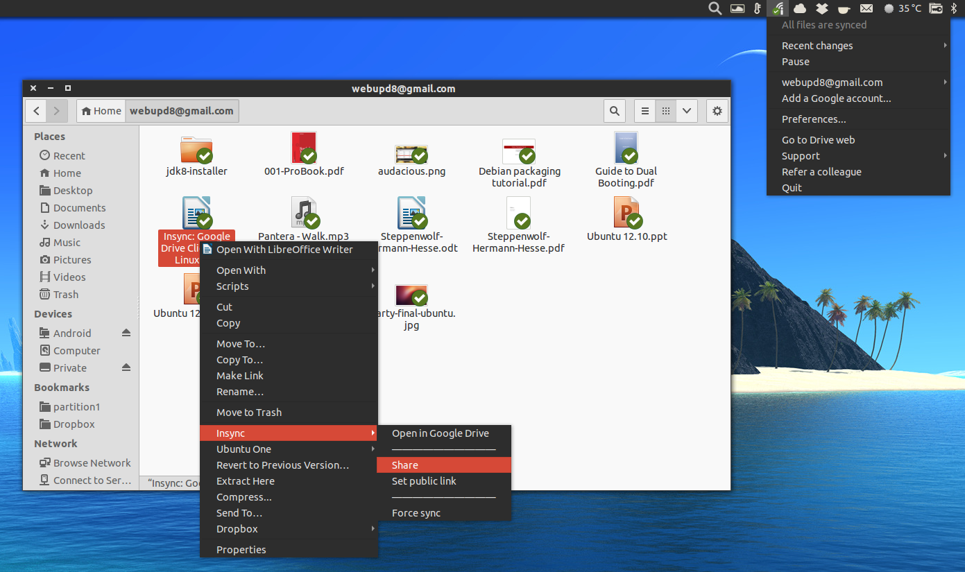 Google Drive Client Insync For Linux Out Of Beta Gets Selective
