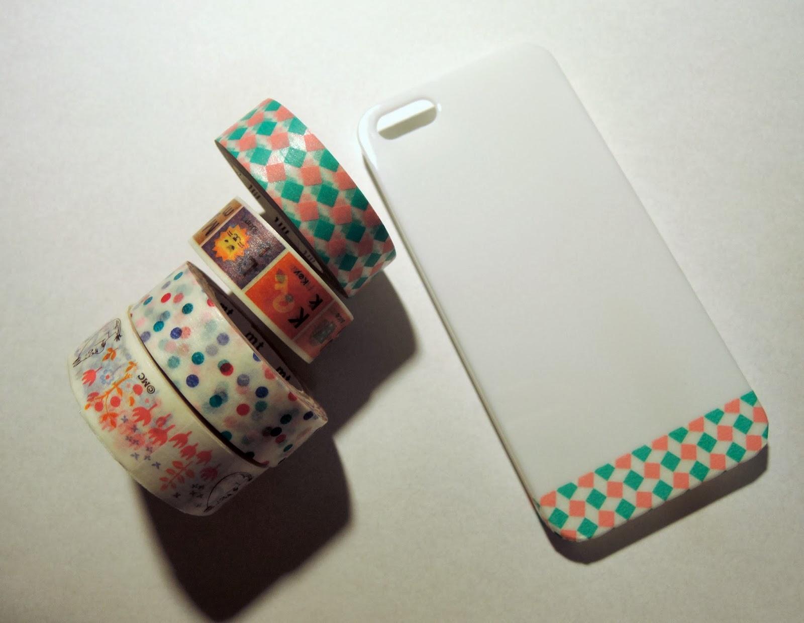 Meow box jewellery diy japanese washi tape phone case for Washi tape phone case