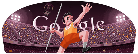 Google Doodles - Olympic Javelin 2012