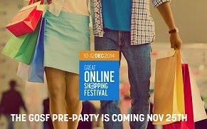"Google Great Online Shopping Festival ""GOSF-2014″ : Great Discount Offers on across 300 Stores (Valid from 10th Dec to 12th Dec'14) Pre-Party on 25th Nov'14"