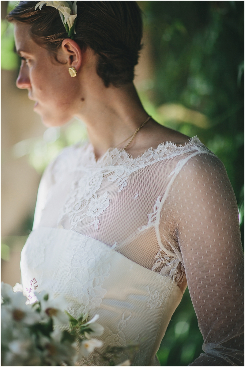 Belle and Bunty wedding dress detail