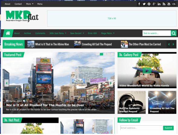 Mkrflat Responsive Blogger Template Free Download