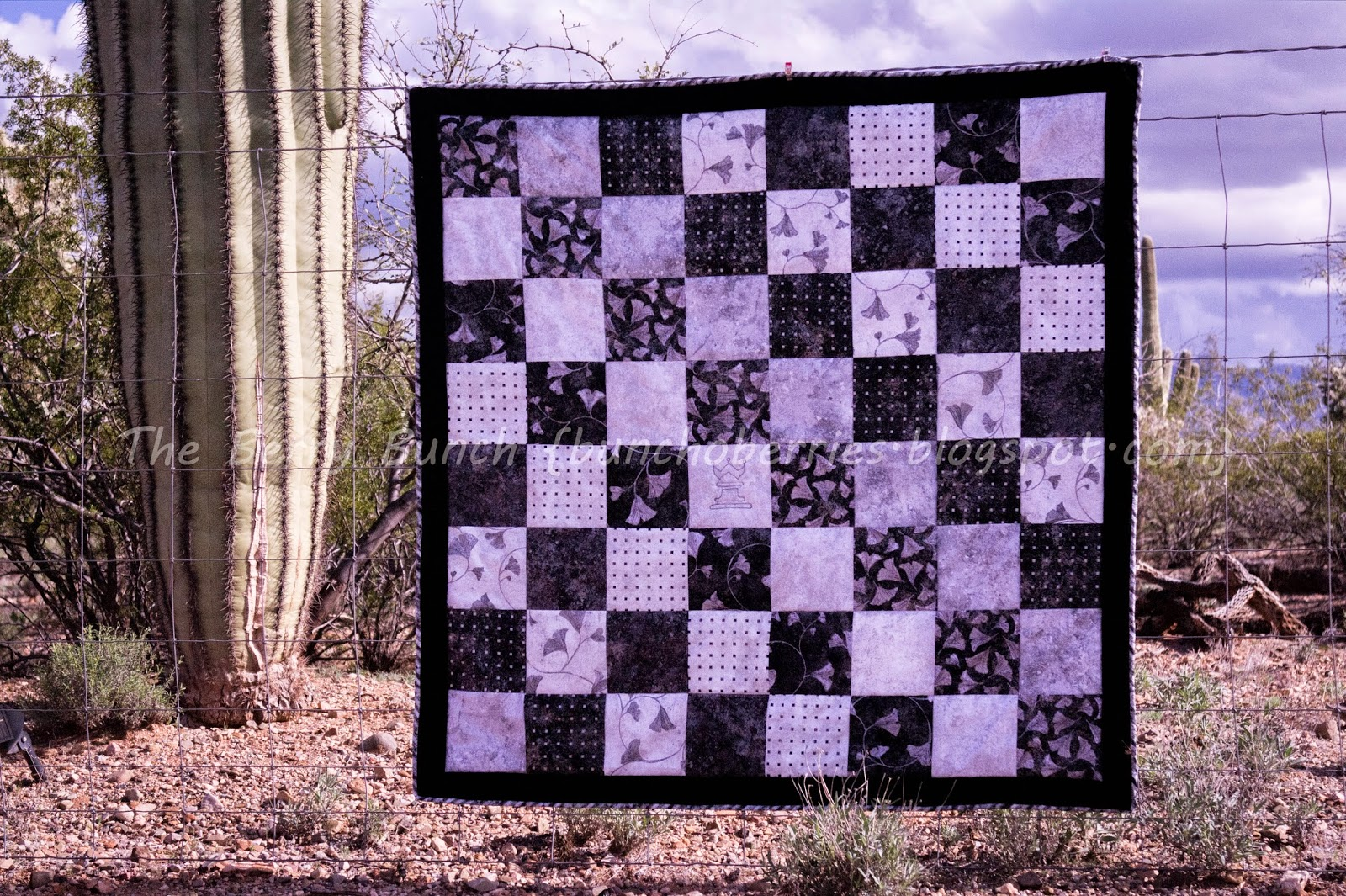 Crafting Mystery Challenge: February Idea Swap: Black and White: Berry Bunch