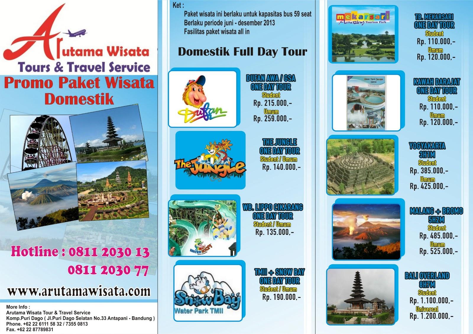 Arutama Wisata Tour & Travel Service: Promo Paket Wisata ...