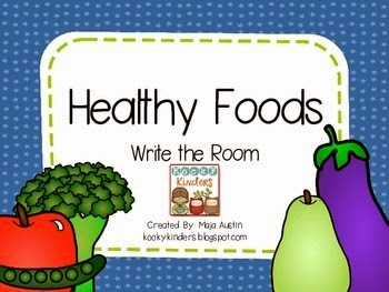 http://www.teacherspayteachers.com/Product/Healthy-Foods-Write-the-Room-1319574