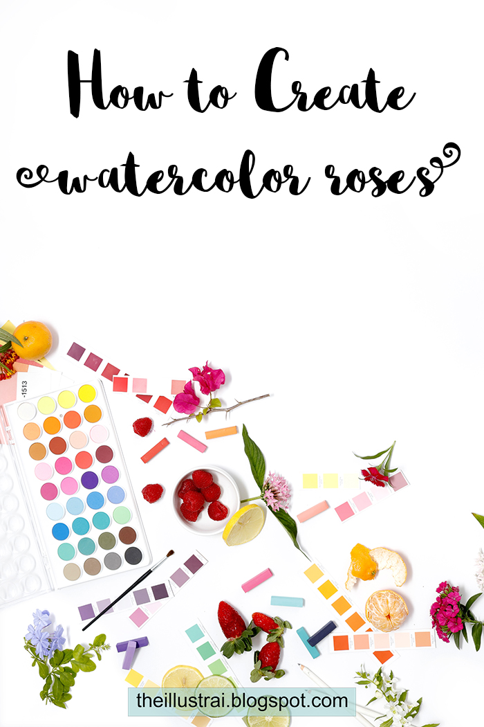 Learn how to create simple, abstract watercolor rose, in this tutorial | The Illustrai