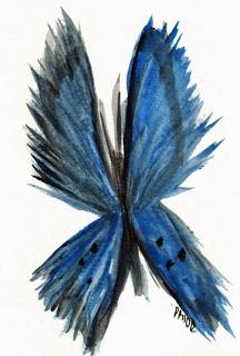 Easy Watercolor Paintings Of Butterflies blue-butterfly jpg