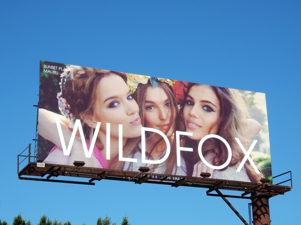 Wildfox Summer 2015 fashion billboard