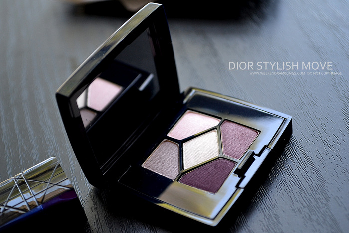 Dior Backstage Makeup Set - Stylish Move 5 Couleurs 970 Eyeshadow Palette VIP Pink Lipstick Photos Swatches Beauty Blog Review