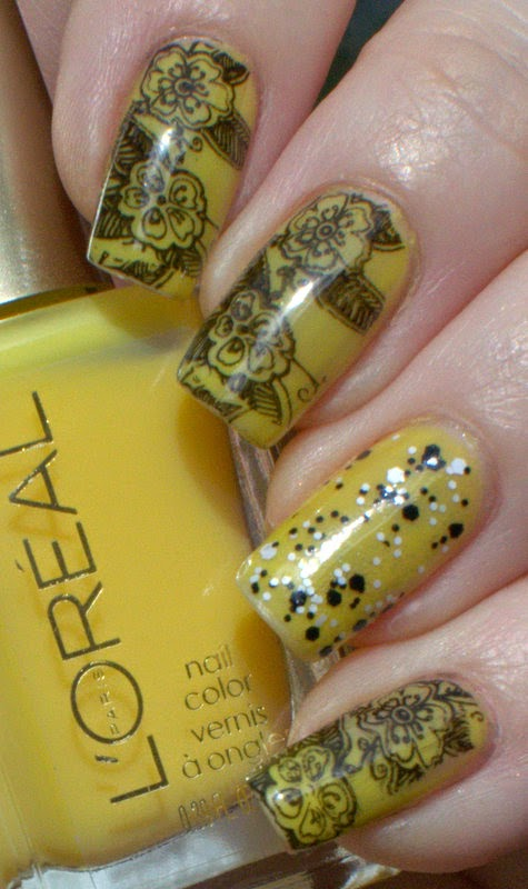 L'oreal Bananarama Love with Ulta3 Showstopper glitter and stamping