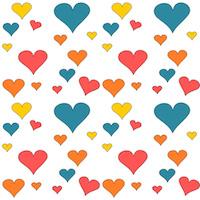 heart pattern paper