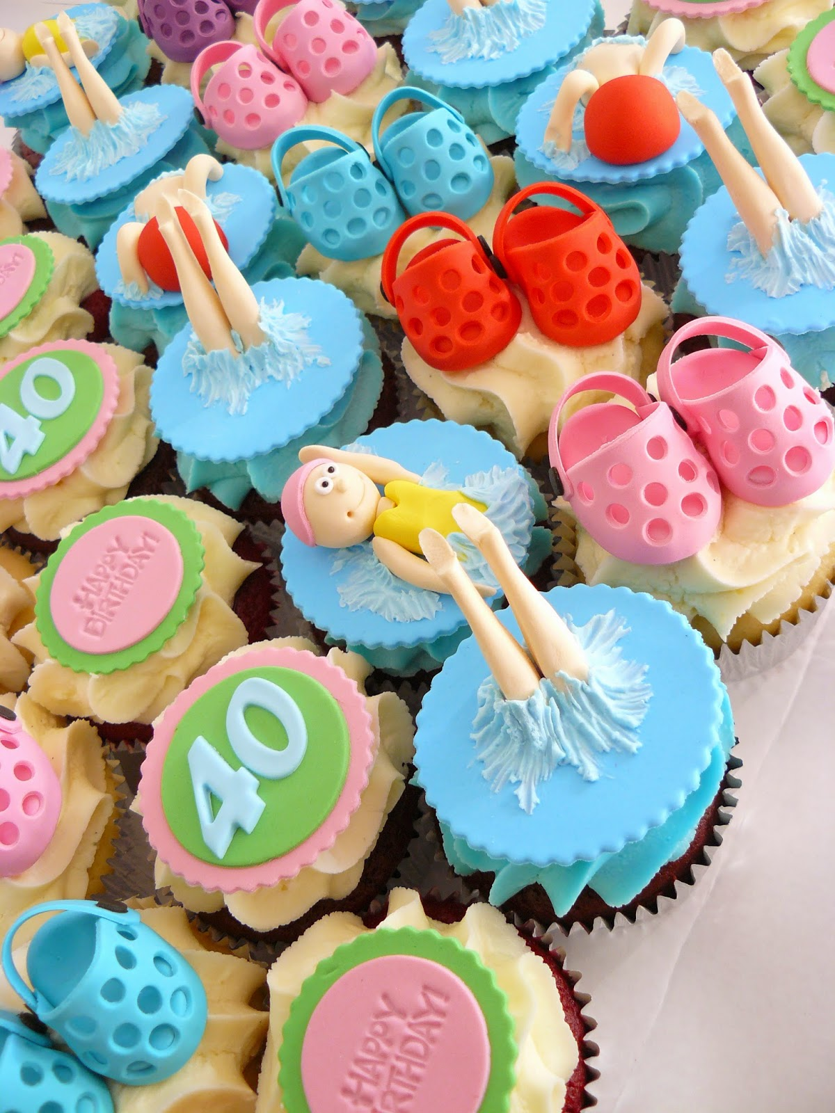 Croc Cupcakes