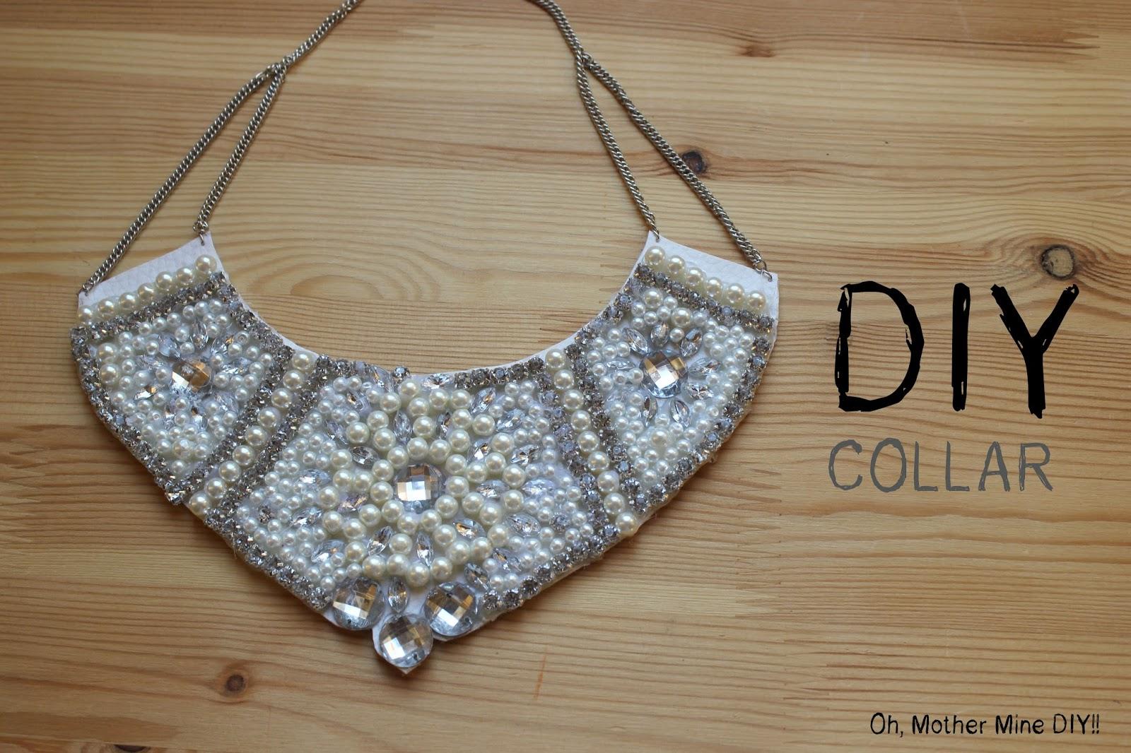 DIY Collar de perlas y piedras Swarovski     Oh, Mother Mine DIY!!