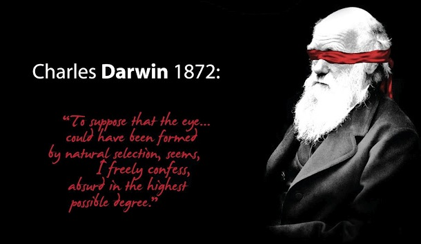 Charles Darwin was wrong eye quote on evolution