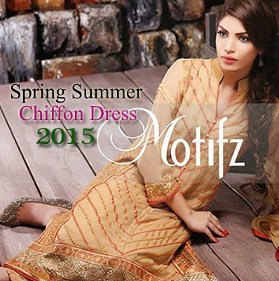 Spring Summer Motifz Crinkle Chiffon Dress