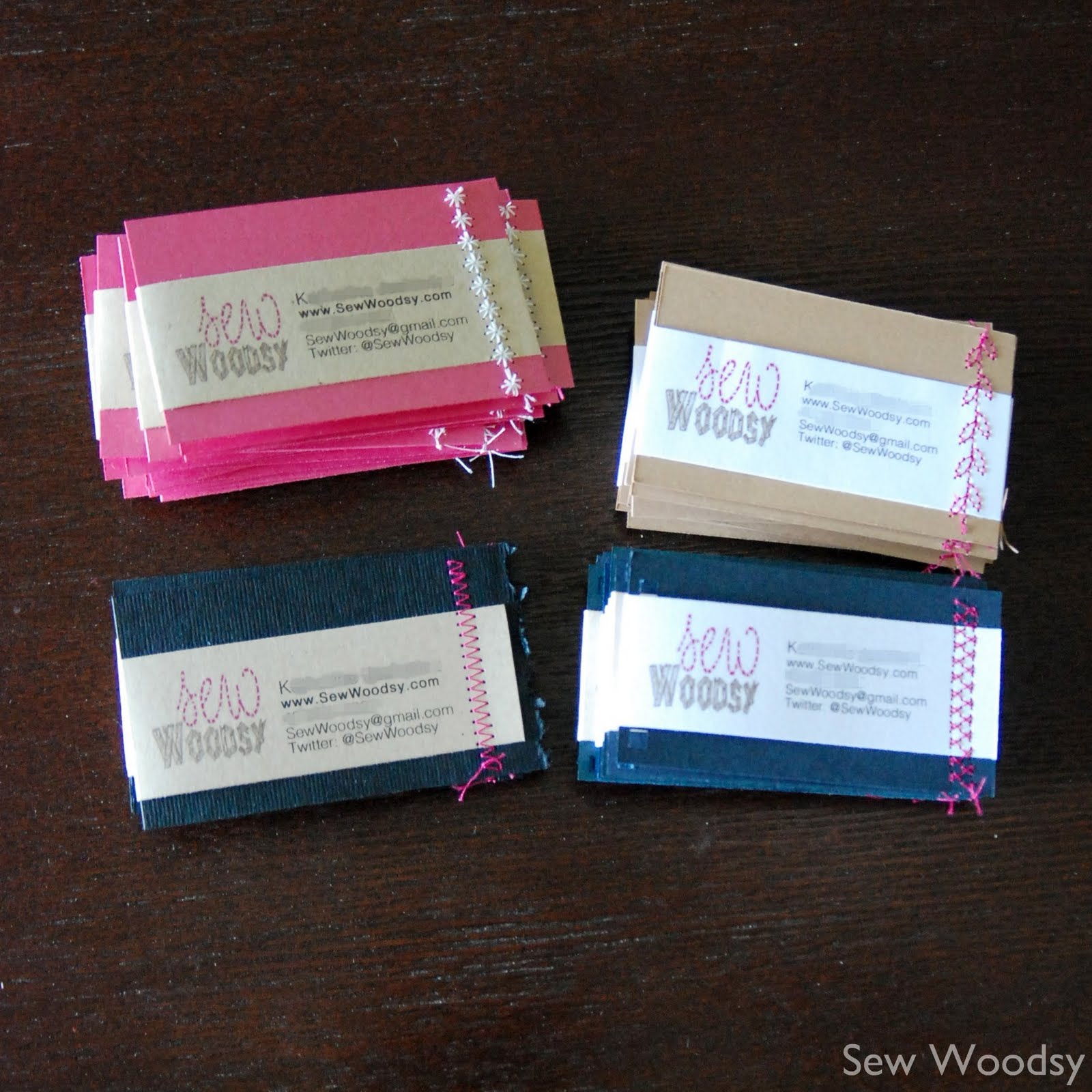 title> sewn homemade business cards {& cfl blog con recap}<title