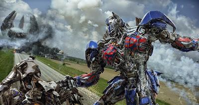 Transformers Age of Extinction Optimus versus Decepticons