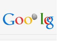 doodle de google sobre el asteroide da14