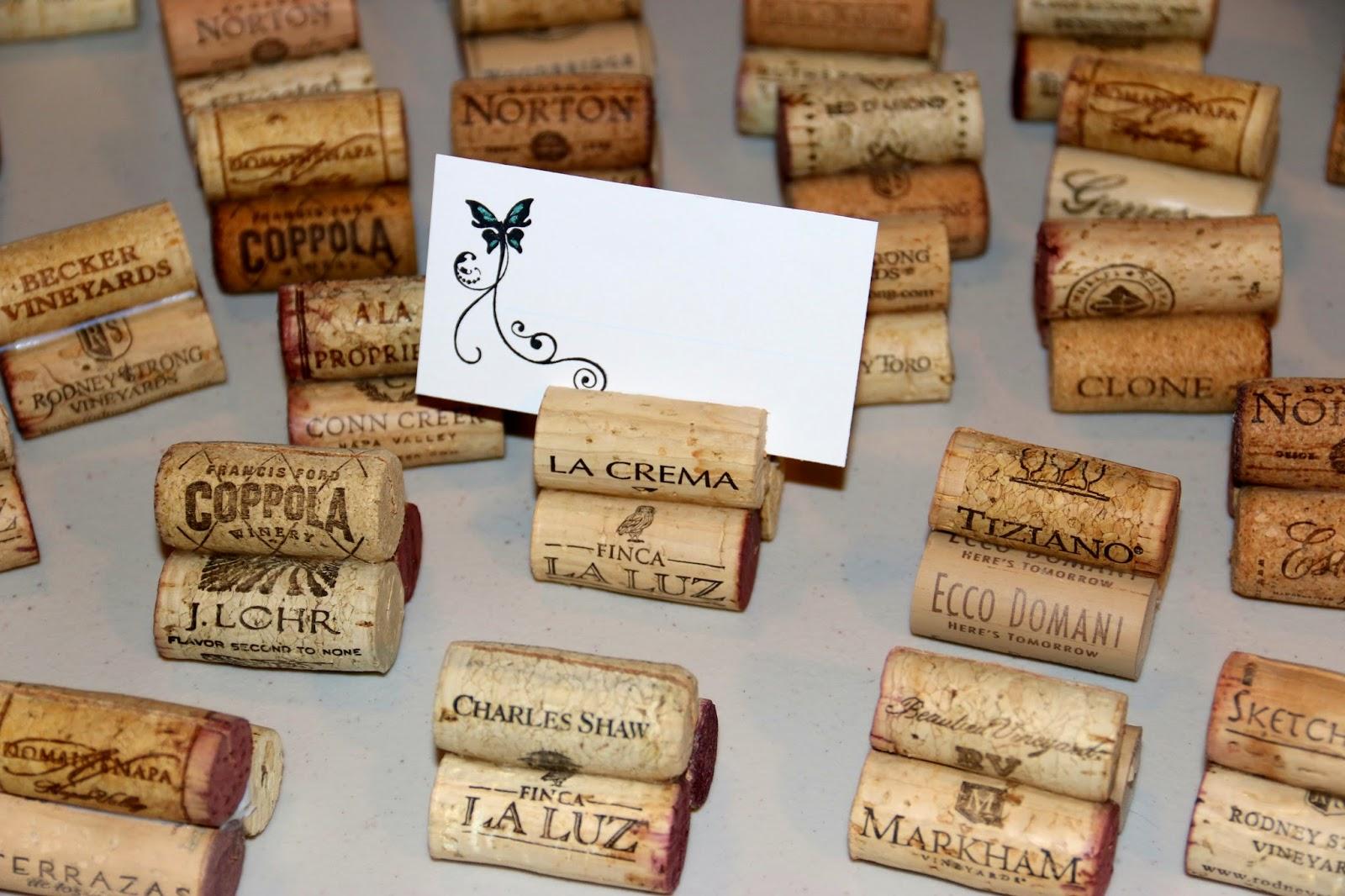 Art Happens Wine Cork Place Card Holders