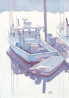 The Gut III - Watercolor by Paul Sherman