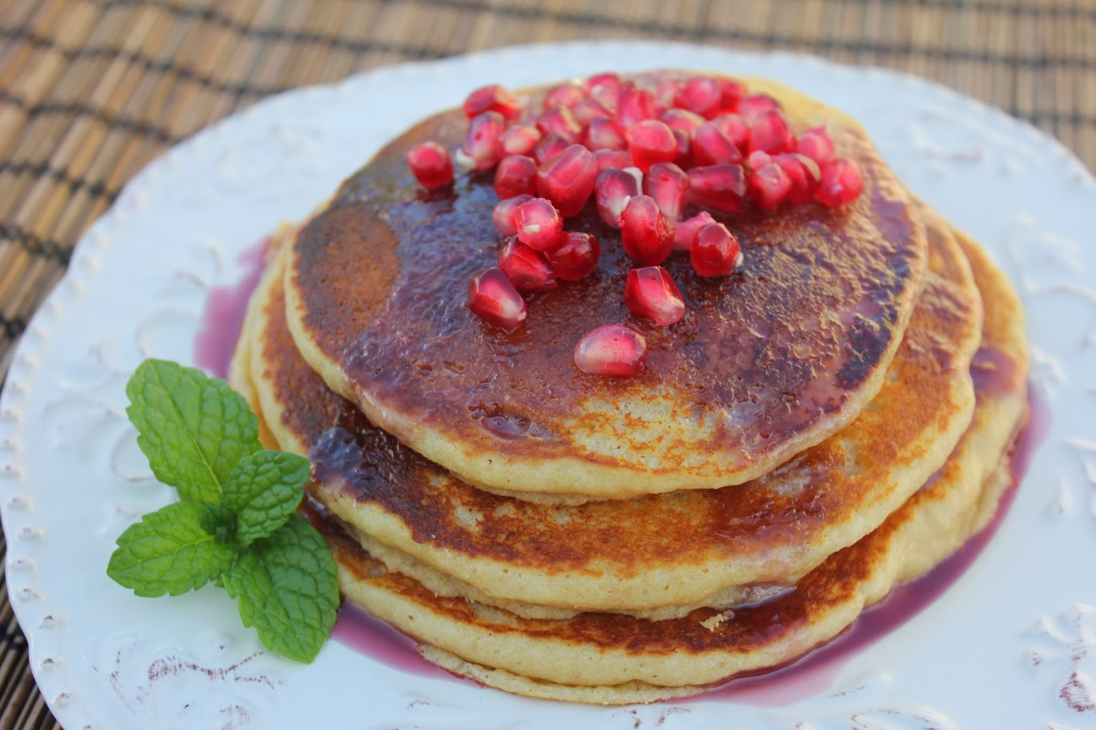 Deals to Meals: Quinoa Pancakes & Pomegranate Syrup