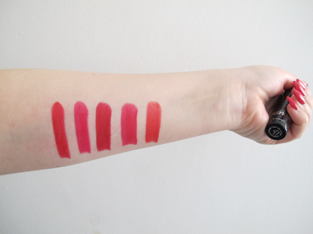 MAC Maleficent Swatches