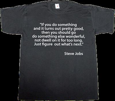 steve jobs apple brilliant sentence t-shirt ephemeral-t-shirts