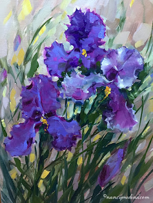 http://www.nancymedina.com/available-paintings/amethyst-ballet-iris-garden