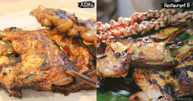 Aida's Bacolod Chicken Inasal versus Others