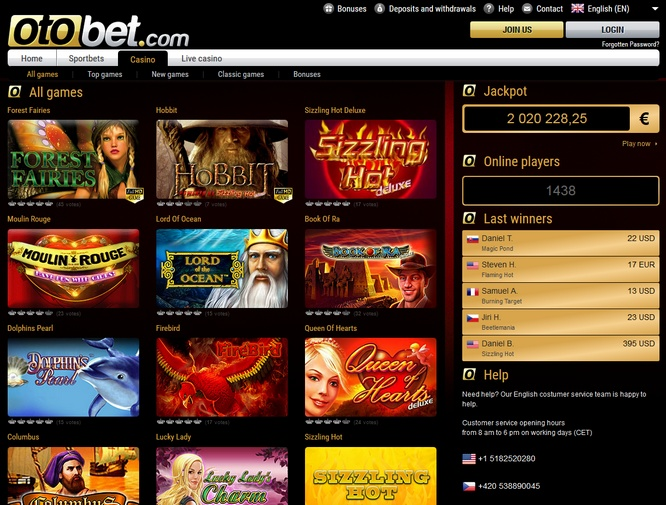 otobet casino mobile
