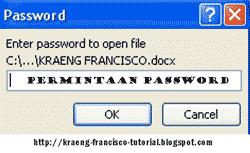 ... Komputer > Update Cara Membuat Password Di Microsoft Office Word 2007