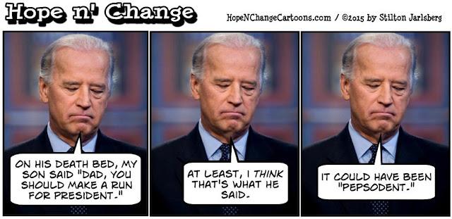 obama, obama jokes, political, humor, cartoon, conservative, hope n' change, hope and change, stilton jarlsberg, joe biden, death bed, 2016, pepsodent
