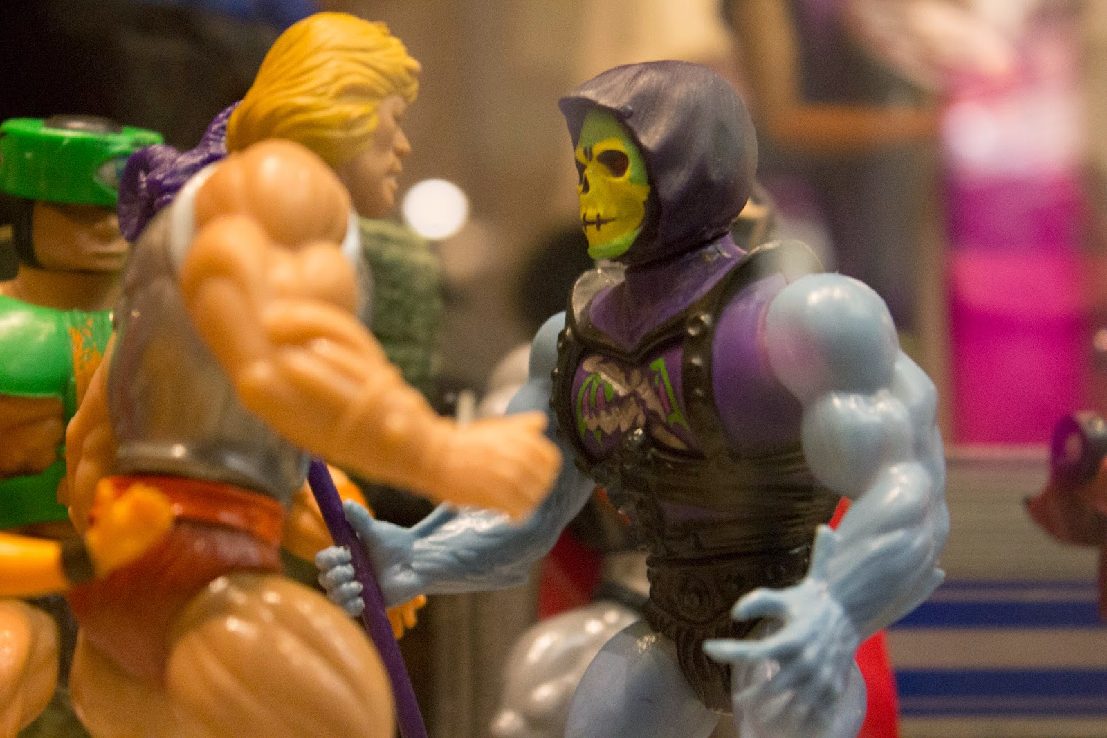 He-Man Skeletor Vintage MOTU Masters of the Universe Sheffield Weston Park Museum Mattel Mos Espa Collection The MEC