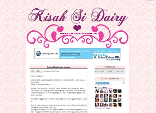 Membantu Menyelamatkan Blog Kisah Si Diary