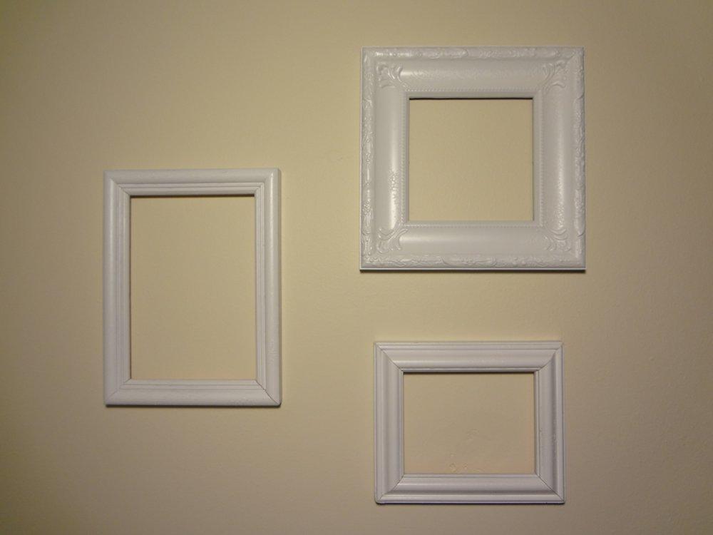 aka Bailey: Pinterest Project Update: Empty Frames as Wall Art