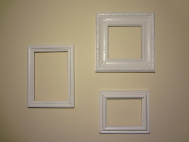 empty frames as wall art, pinterest